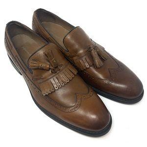 NWOT Johnston & Murphy leather loafer wingtip